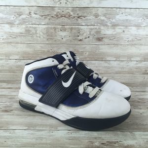 Nike Lebron Zoom Soldier 4 Womens 9 White Navy